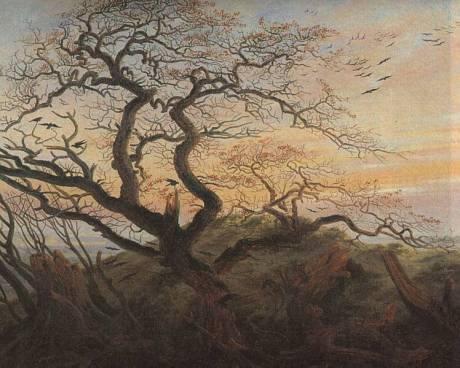 Caspar David Friedrich, Kråkornas träd (1822)